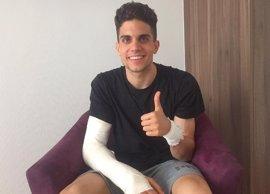 Marc Bartra recibe el alta hospitalaria