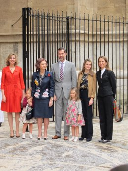 La Familia Real En La Catedral De Mallorca