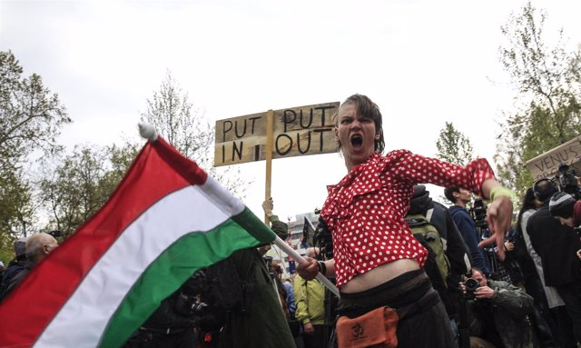 Manifestación contra Orbán en Budapest