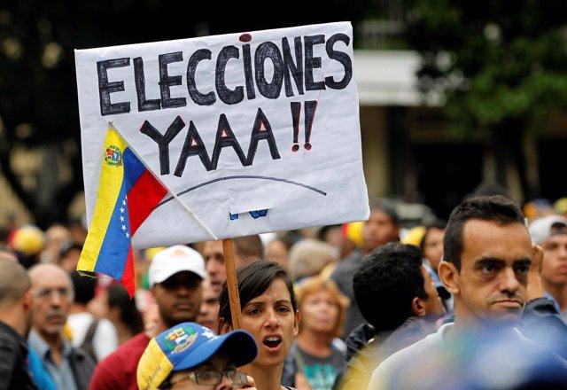 Protesta contra el Gobierno de Nicolás Maduro en Caracas