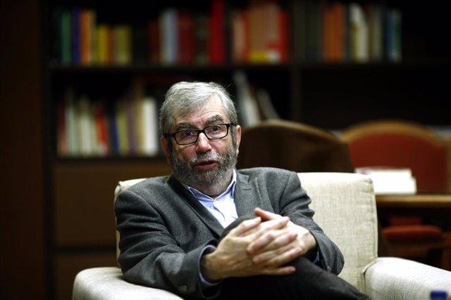 Antonio Muñoz Molina durante su entrevista con Europa Press