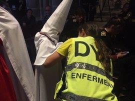 Tres atendidos, dos de ellos graves, durante las procesiones del sábado en Cáceres