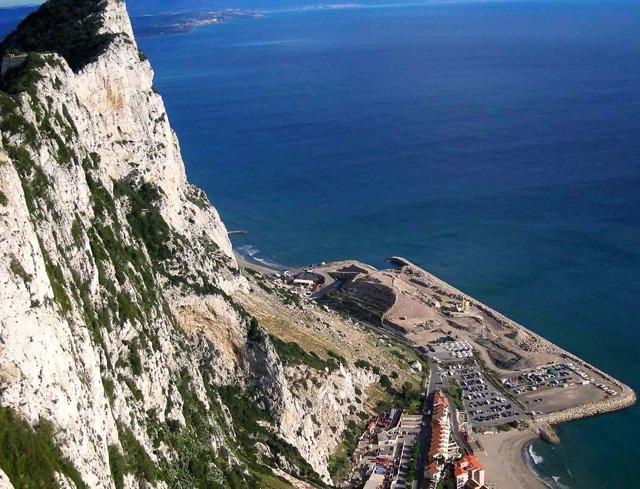 Rellenos en el Peñón de Gibraltar