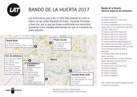 Los autobuses interurbanos adaptan sus horarios durante las Fiestas y el Bando