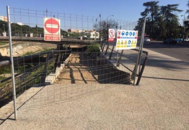 Obras en el parque del Rivillas y Calamón en Badajoz
