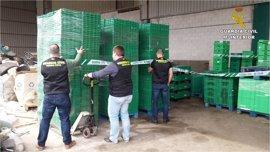 Cuatro arrestados en la mayor operación de robos de cajas de plástico en la zona de Levante