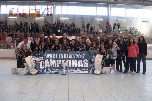 HC Rubí Cent Patins hockey patines Copa Reina campeón