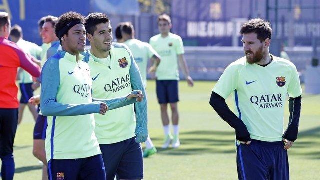 Leo Messi Neymar Luis Suárez Barcelona