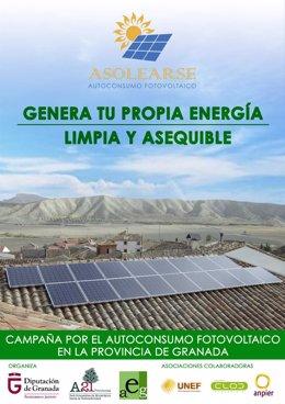 Cartel de campaña sobre los beneficios de placas solares en domicilios
