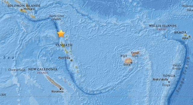 Terremoto de magnitud 5,7 en Vanuatu