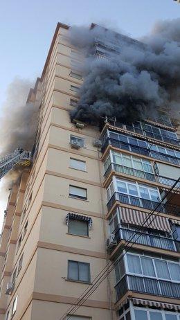 Incendio málaga ciudad jardin