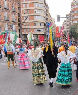 Desfile del Bando de la Huerta, huertanas, huertanos, refajo.
