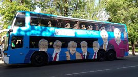 El 'tramabús' de Podemos no contraviene la ordenanza de publicidad exterior del Ayuntamiento