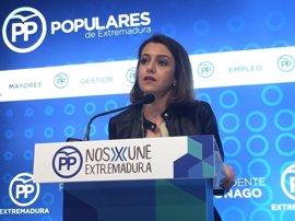 """El PP advierte de que los extremeños """"tienen calado"""" a Vara por su """"falta"""" de inversiones y medidas contra el paro"""