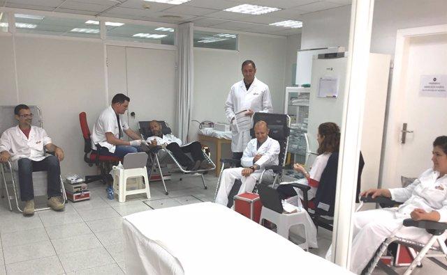 Participación de los trabajadores de ElPozo en la campaña de donación