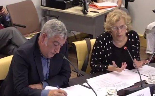 Manuela Carmena se estrena en la comisión de Cultura