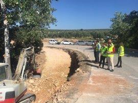 La carretera que une Santiago de Calatrava y Jaén capital se mantendrá cortada por obras hasta final de verano