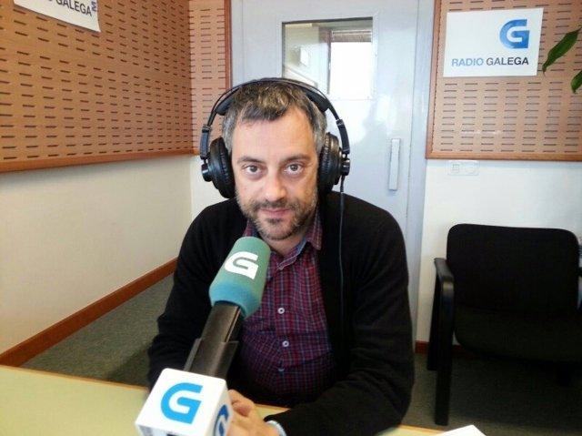 El alcalde de A Coruña, Xulio Ferreiro, en la entrevista en la Radio Galega