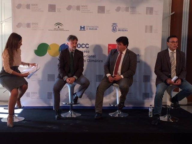 Presentación del Congreso Internacional sobre el Cambio Climático en Huelva.