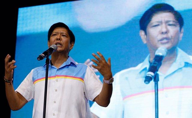 """Ferdinand """"BongBong"""" Marcos, en la última campaña electoral"""