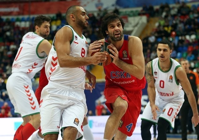 Teodosic y Hanga en el CSKA Moscú - Baskonia