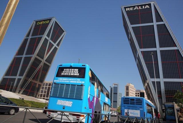 Tramabús de Podemos en Madrid