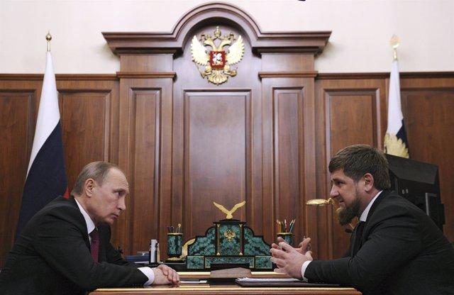 Kadirov y Putin, reunidos en el Kremlin
