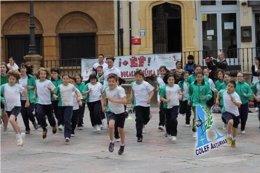 Educación física en la calle en Oviedo