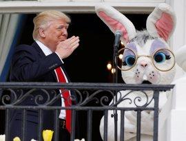 Trump preside su primera carrera de huevos de Pascua en la Casa Blanca