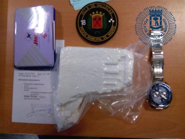 Imagen de la cocaína intervenida por Policía Municipal de Madrid