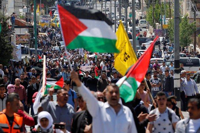 Manifestación del Día de los Presos Palestinos