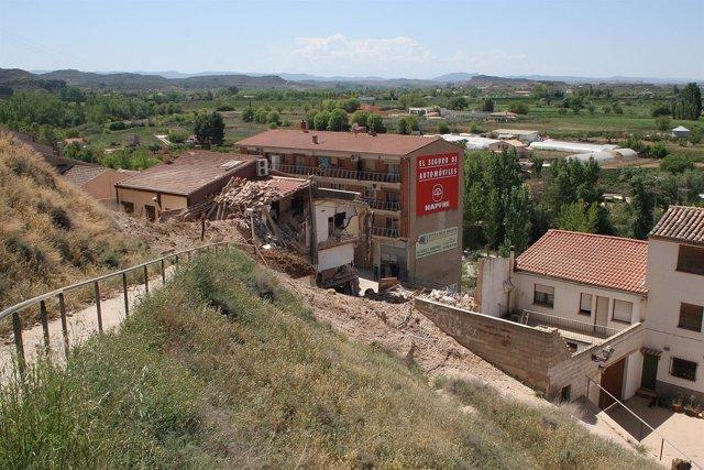 Derrumbe en Alcañiz