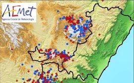La Comunitat Valenciana registra 281 rayos durante las tormentas del lunes