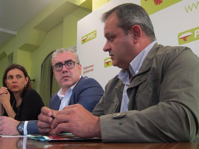 Paula Fernández, Pedro Hernando y el exalcalde de S.PedroRomeral
