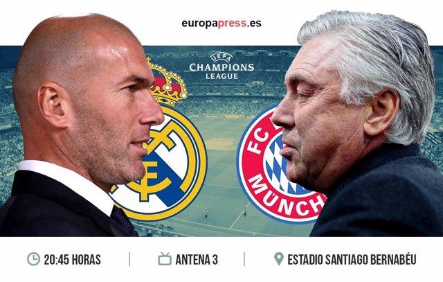 Horario y dónde ver el Real Madrid – Bayern de Munich | Vuelta Cuartos de Final