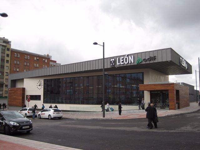 Estación de FEVE en León.