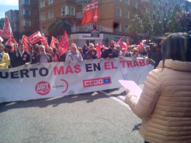 Manifestación contra la siniestralidad