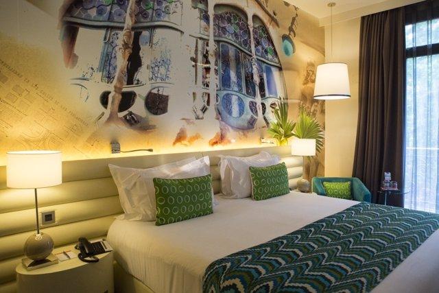 Habitación del Hotel Indigo Barcelona de IHG