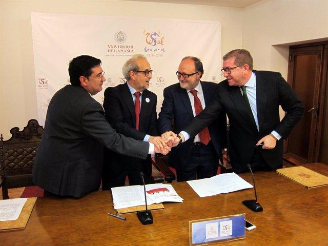 Acuerdo de la USAL con Global Exchange y Feltrero.