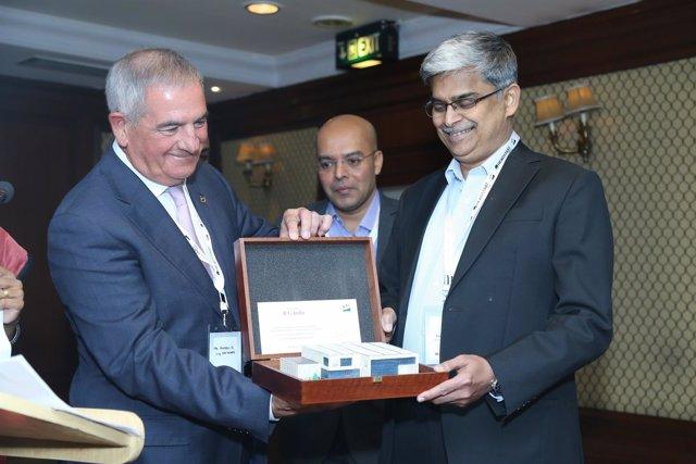 El presidente del Grupo ICG, Andreu Pi, y el de ICG India, Premchand Kurup