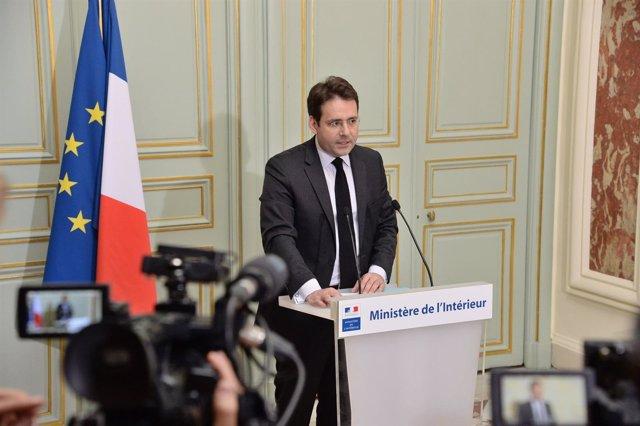 Matthias Fekl, ministro del Interior francés, en una comparecencia
