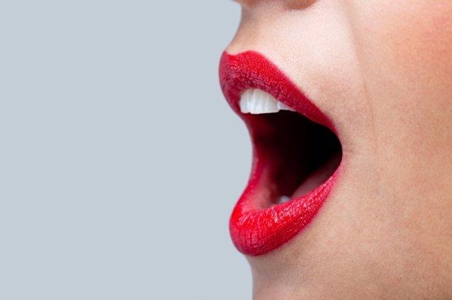 Voz, gritar, mujer, boca.