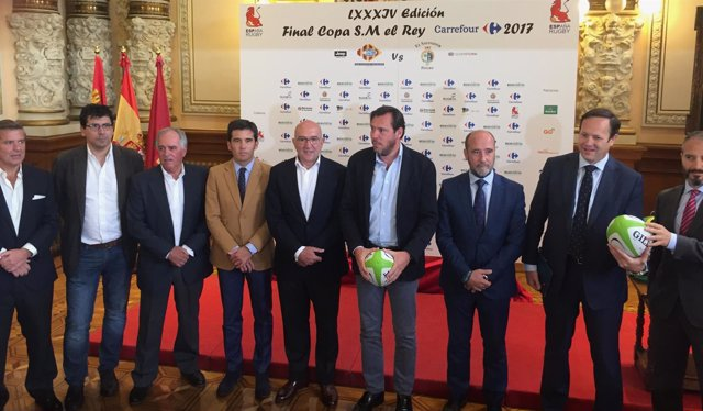 Presentación de la Copa del Rey de Rugby en Valladolid