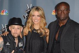 Seal, el ex de Heidi Klum, encandilado de su compañera en 'The Voice'