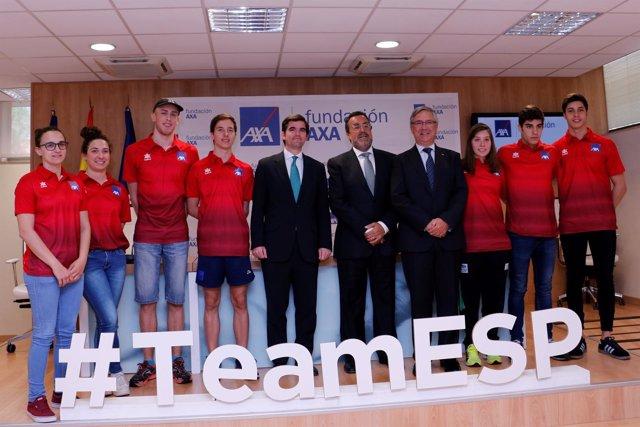 Presentación del equipo Paralímpico natación AXA
