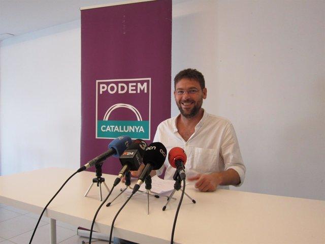 El secretario general del Podem, Albano-Dante Fachin
