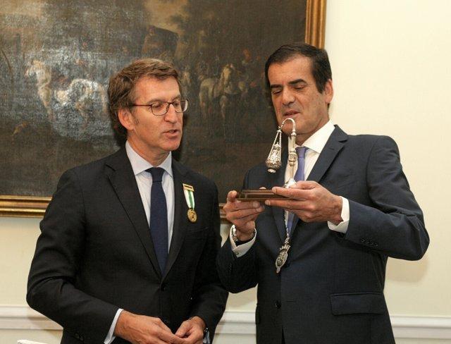 Feijóo y el alcalde de Porto, Rui Moreira