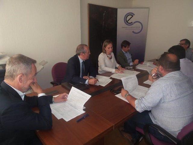 Comisión de la Agrupación por las Infraestructuras en Huelva.
