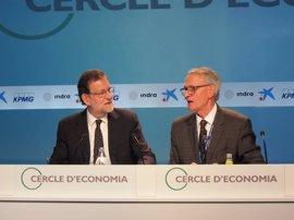 Rajoy y Puigdemont repiten en la Reunión del Círculo de Economía, sobre tiempos de incertidumbre