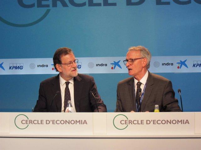 Mariano Rajoy y Antón Costas en la reunión de 2016